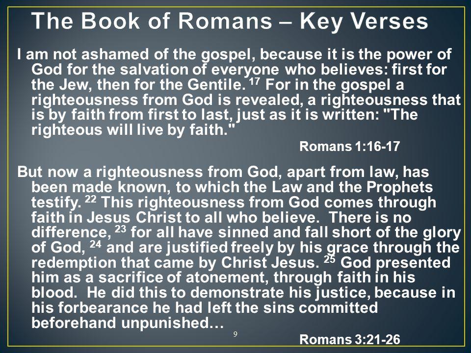 The Book of Romans – Key Verses