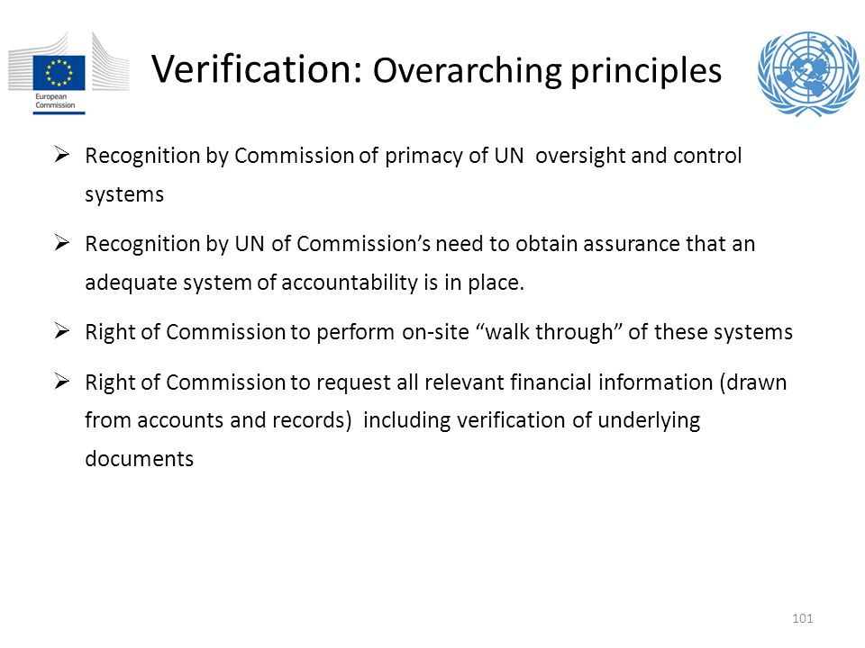 Verification: Overarching principles