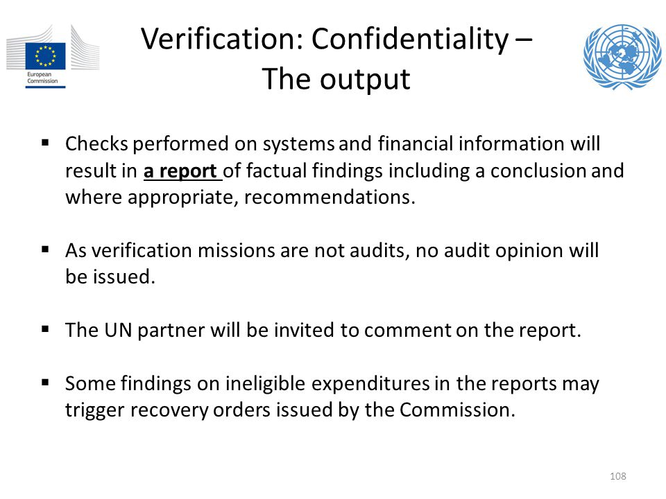 Verification: Confidentiality – The output