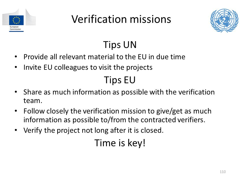 Verification missions