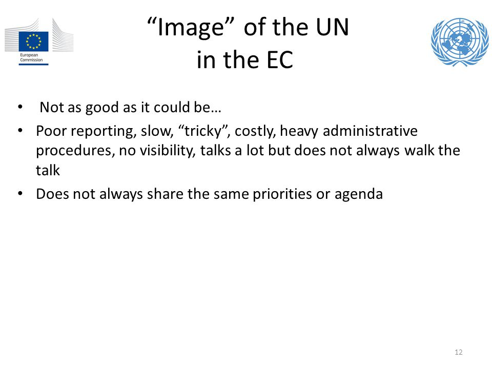 Image of the UN in the EC