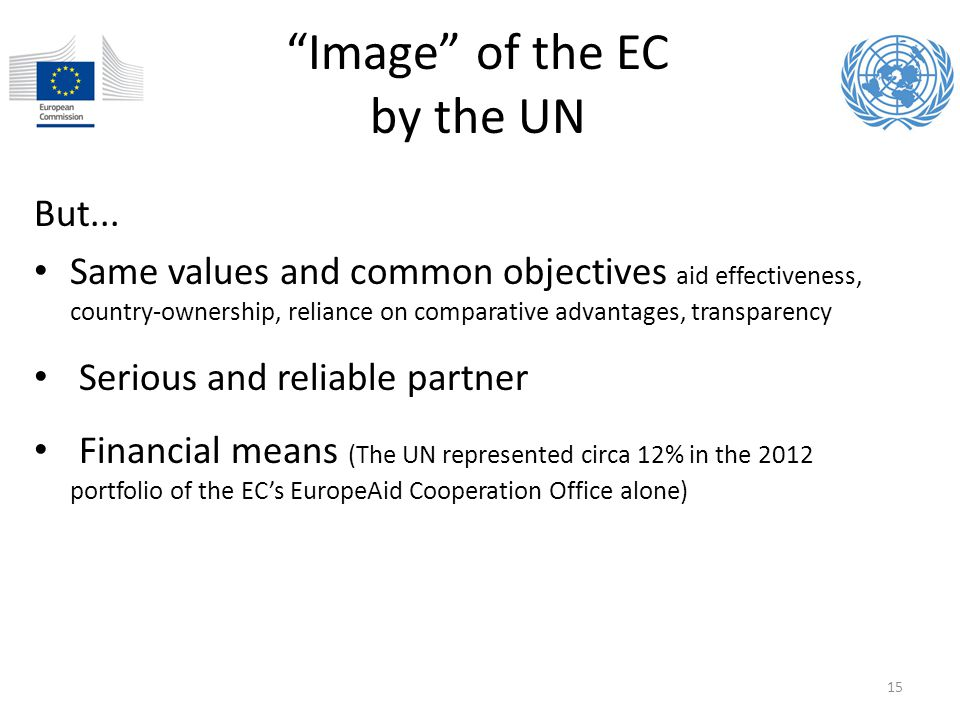 Image of the EC by the UN