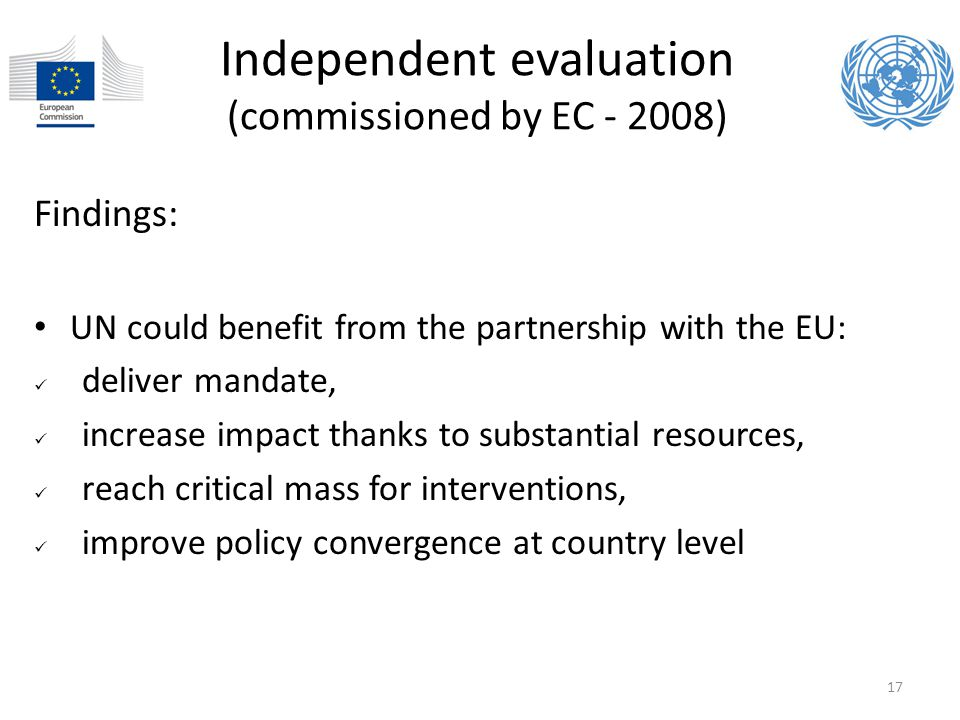 Independent evaluation (commissioned by EC - 2008)