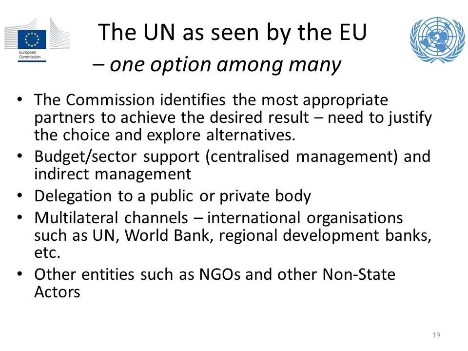The UN as seen by the EU – one option among many