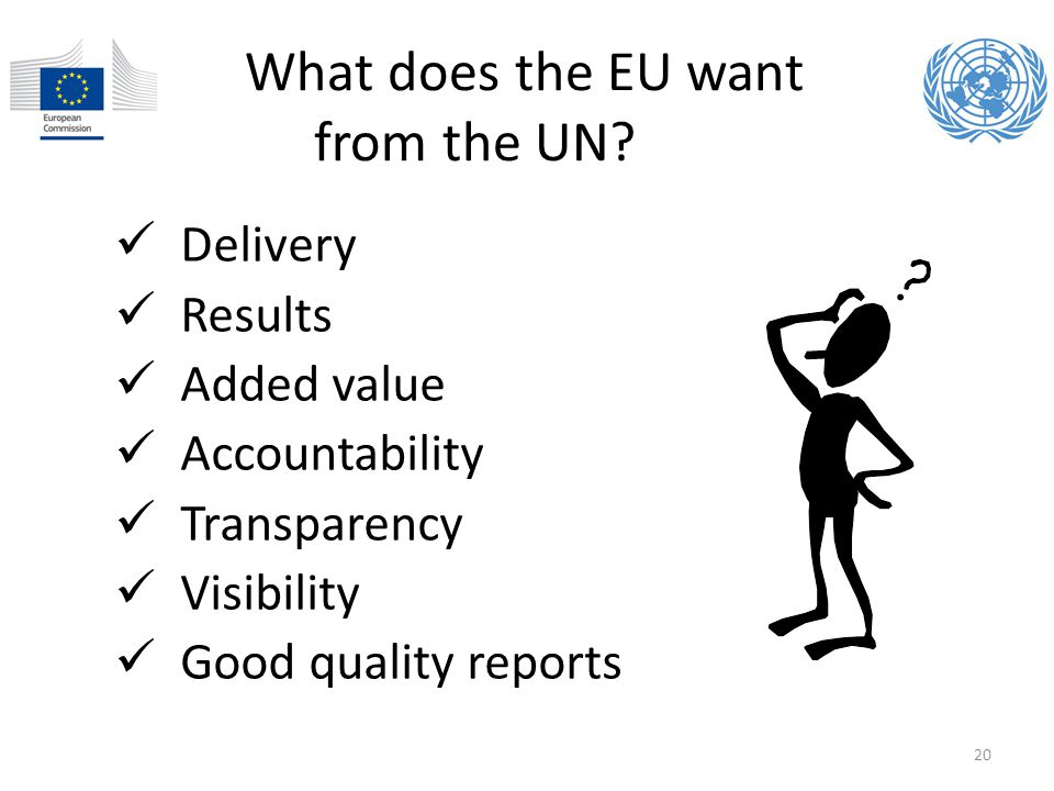 What does the EU want from the UN