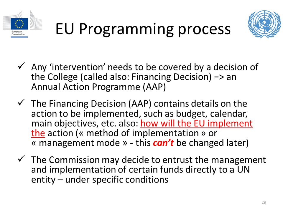 EU Programming process