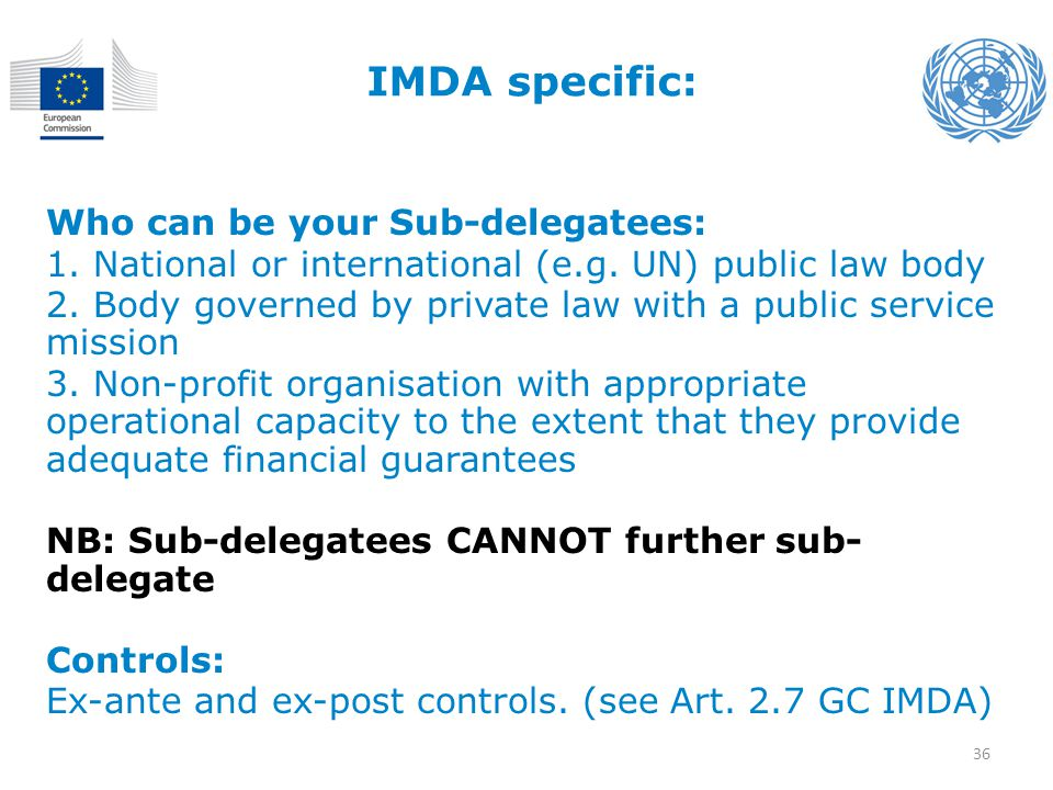 IMDA specific: Who can be your Sub-delegatees:
