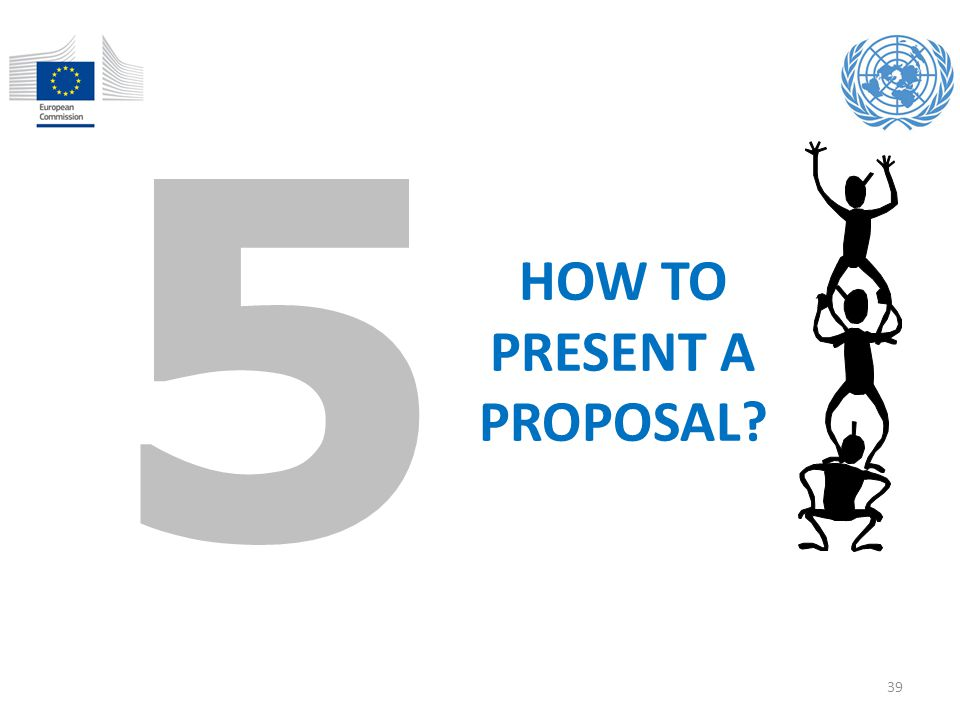HOW TO PRESENT A PROPOSAL