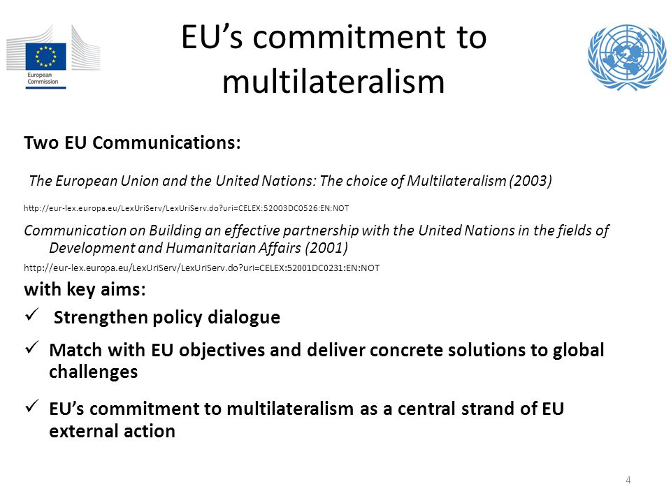 EU's commitment to multilateralism