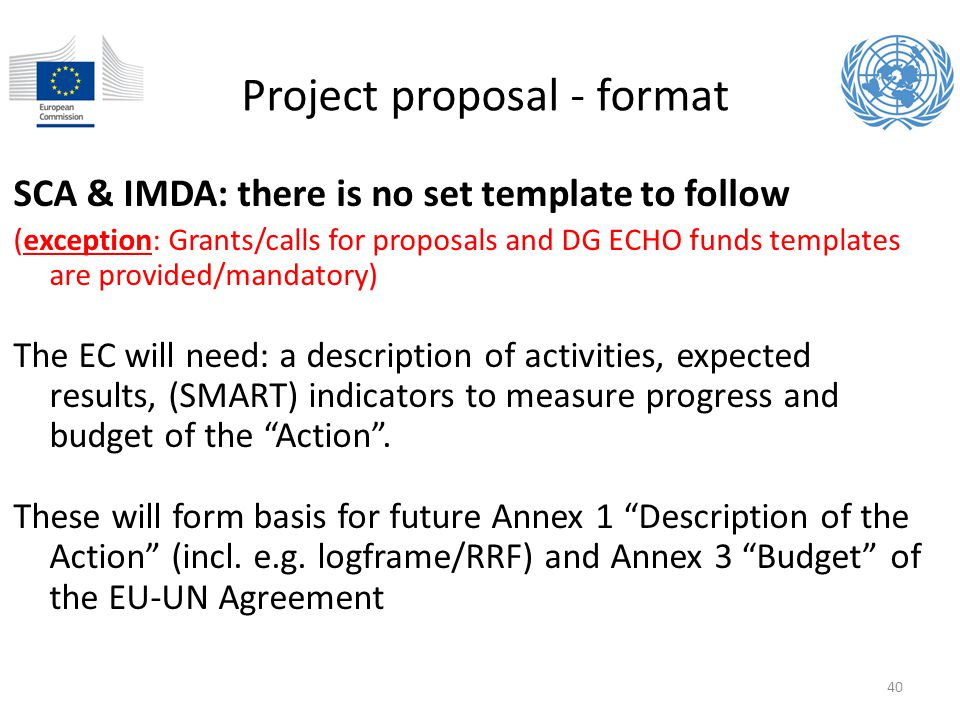 Project proposal - format