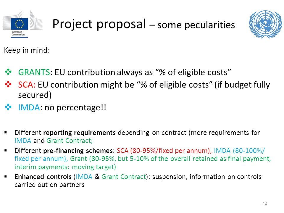 Project proposal – some pecularities