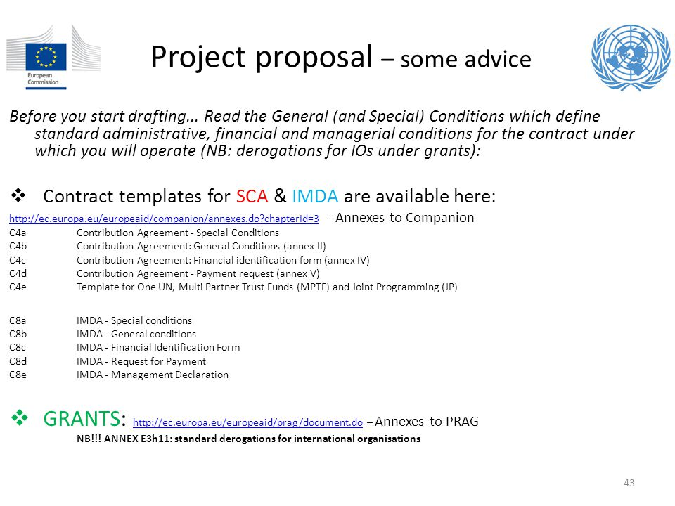 Project proposal – some advice
