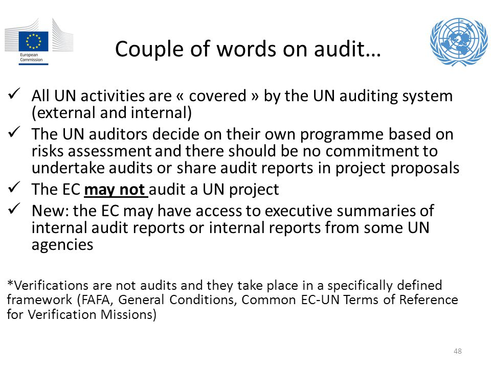 Couple of words on audit…