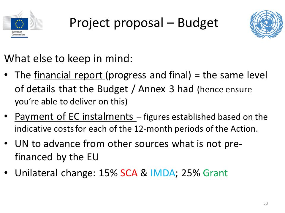 Project proposal – Budget