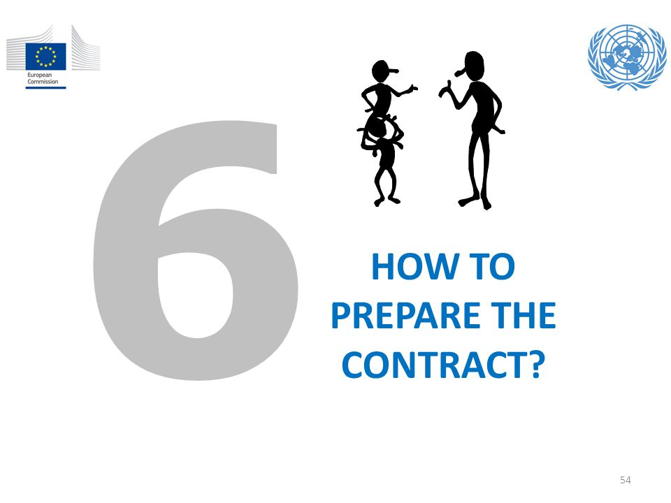 HOW TO PREPARE THE CONTRACT