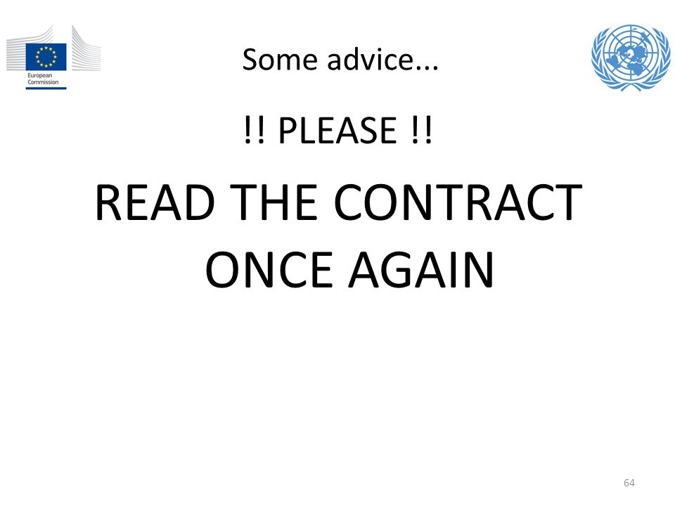 READ THE CONTRACT ONCE AGAIN