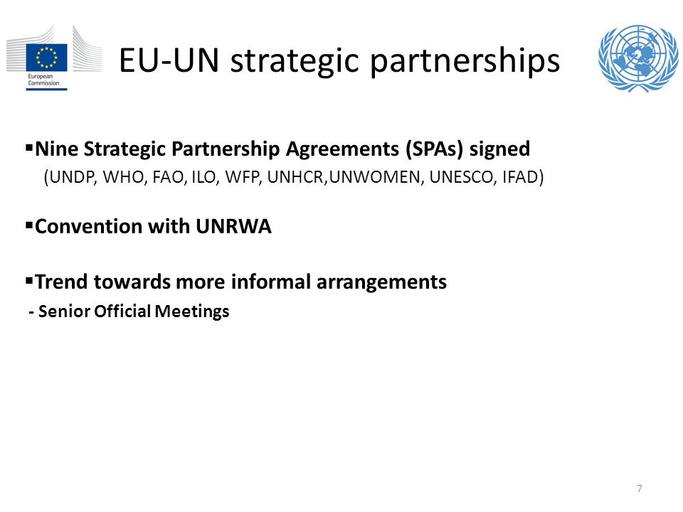EU-UN strategic partnerships