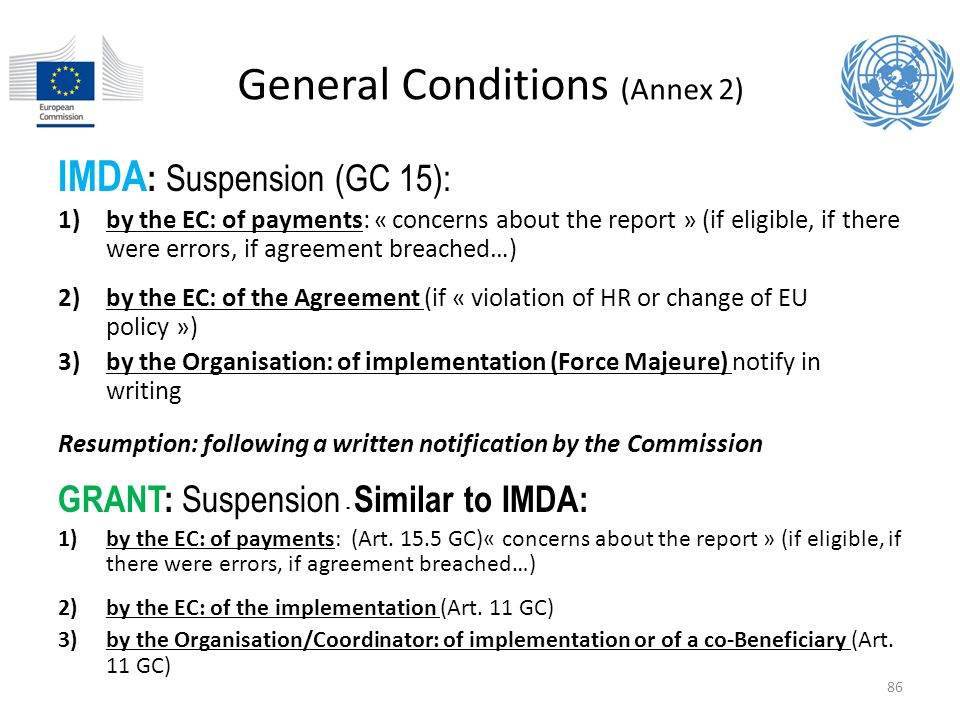 General Conditions (Annex 2)