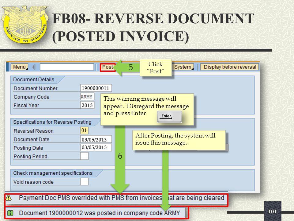 FB08- REVERSE DOCUMENT (POSTED INVOICE)