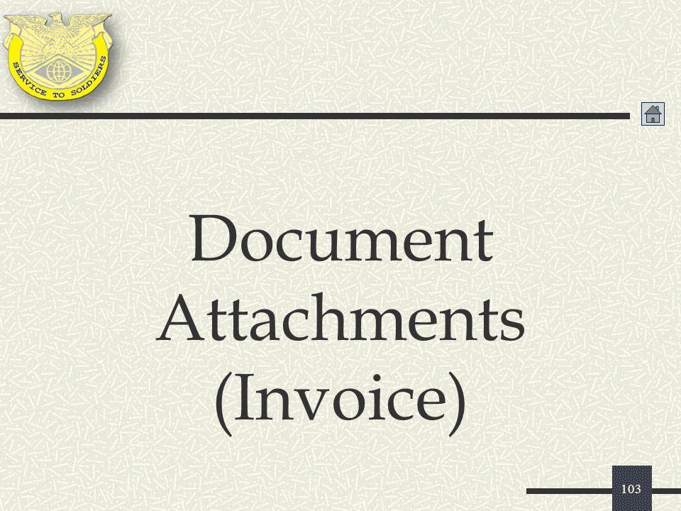 Document Attachments (Invoice)