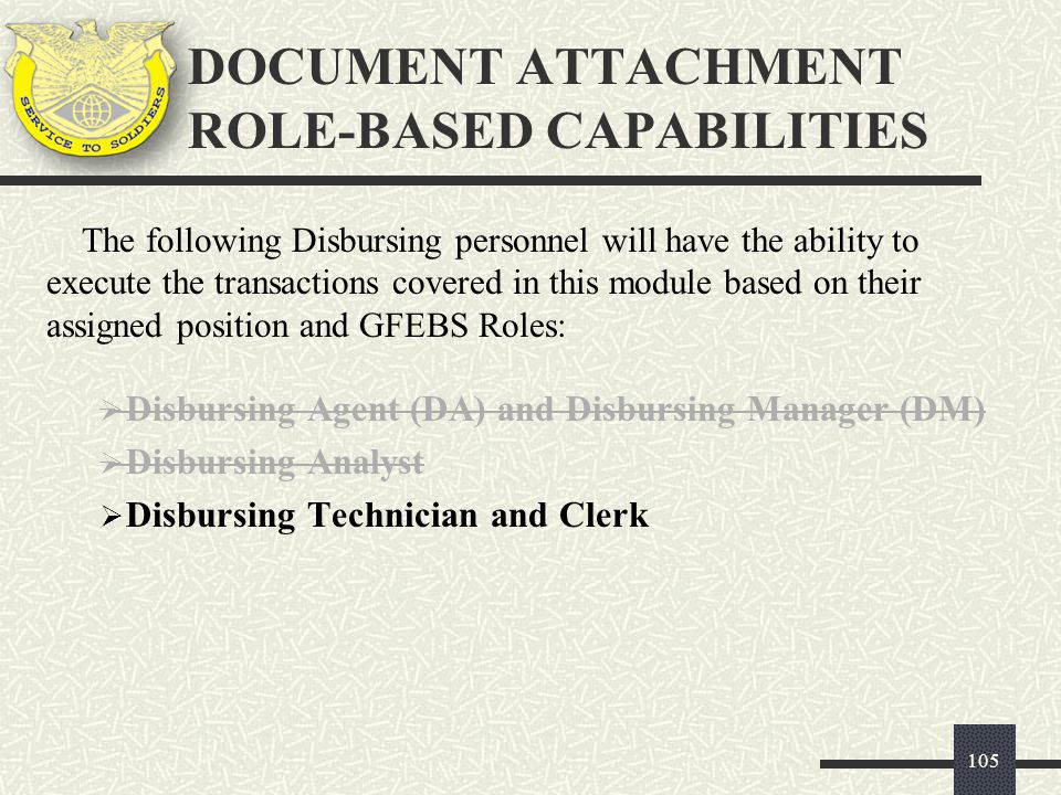 DOCUMENT ATTACHMENT ROLE-BASED CAPABILITIES