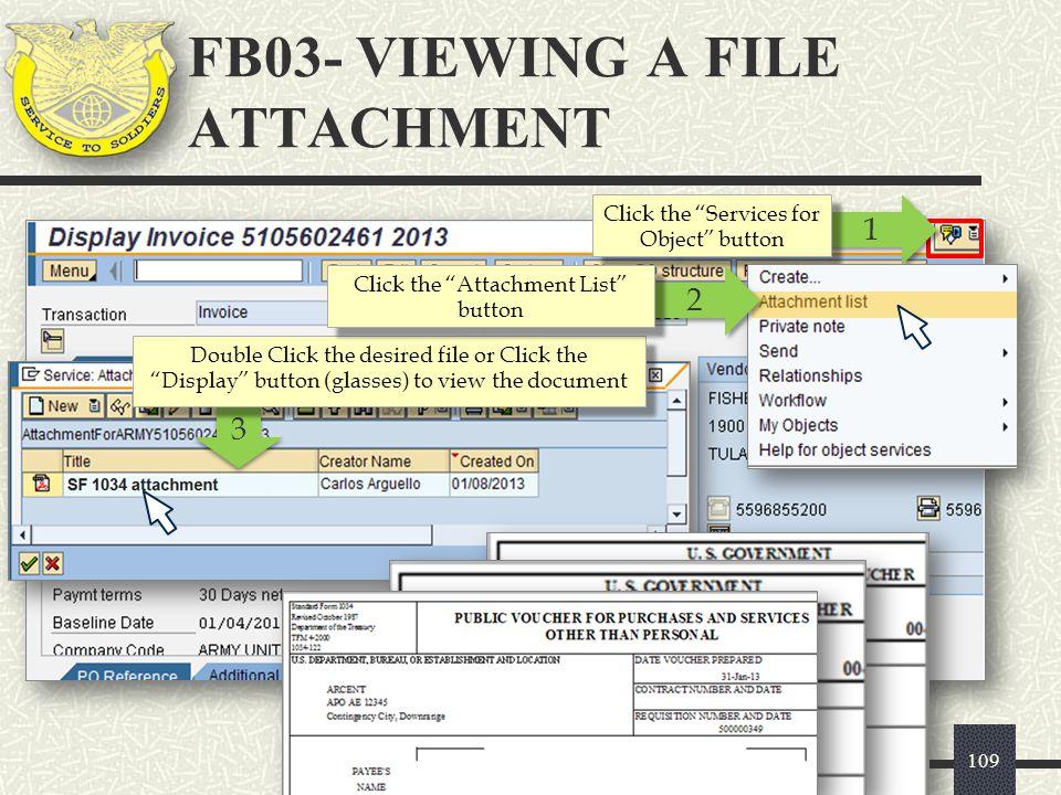 FB03- VIEWING A FILE ATTACHMENT