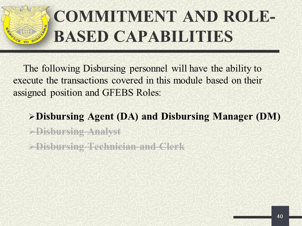 COMMITMENT AND ROLE-BASED CAPABILITIES