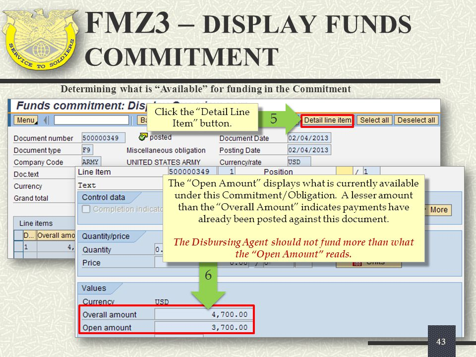 FMZ3 – DISPLAY FUNDS COMMITMENT