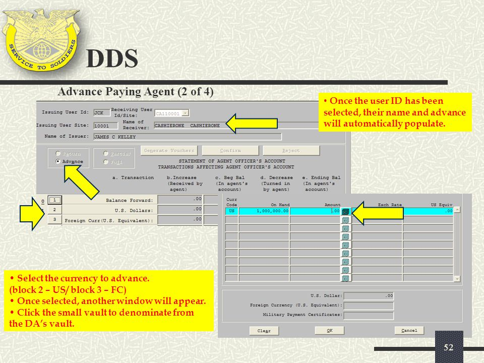 DDS Advance Paying Agent (2 of 4)