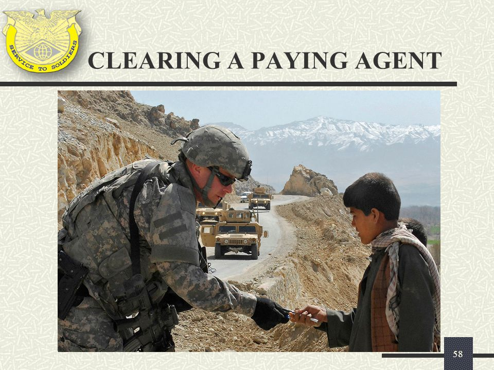 CLEARING A PAYING AGENT