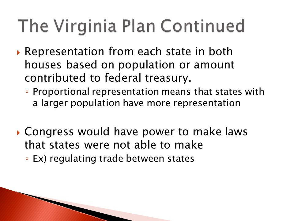The Virginia Plan Continued