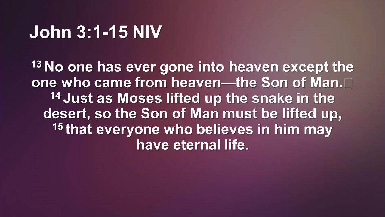John 3:1-15 NIV