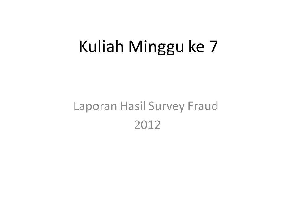 Laporan Hasil Survey Fraud 2012