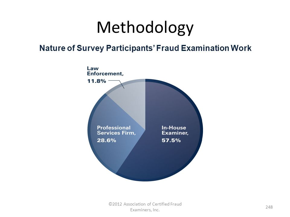 Nature of Survey Participants' Fraud Examination Work