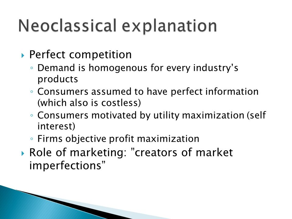 Neoclassical explanation
