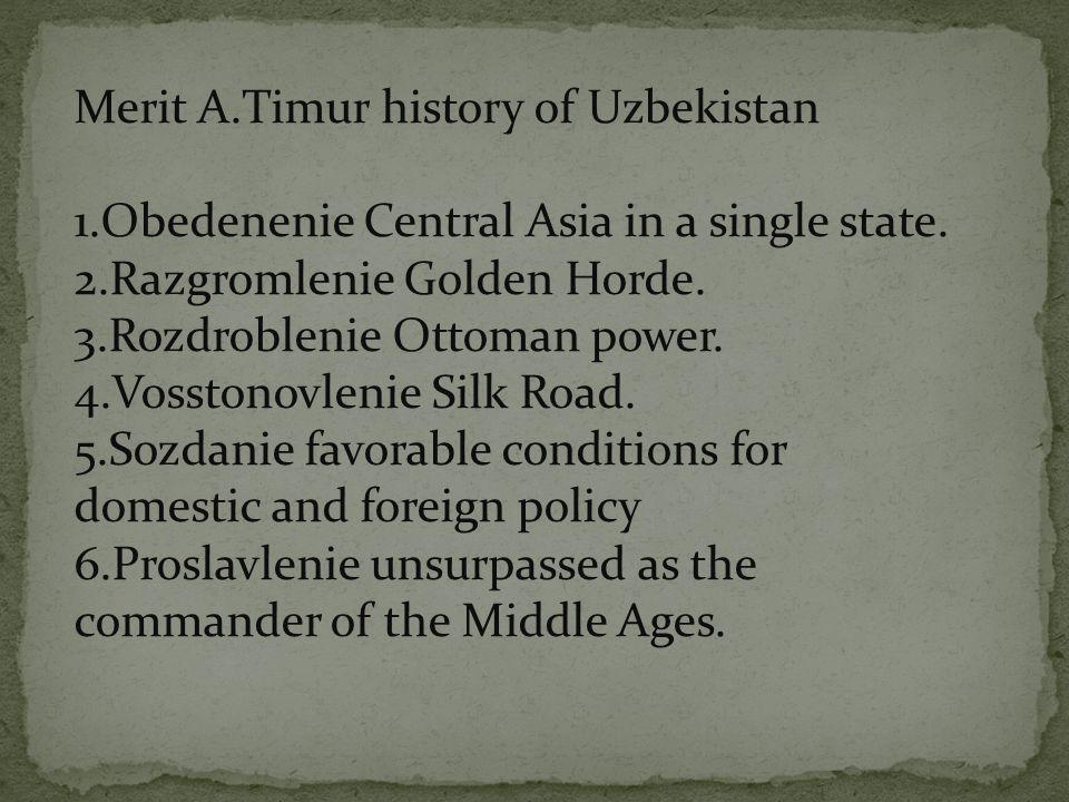 Merit A.Timur history of Uzbekistan