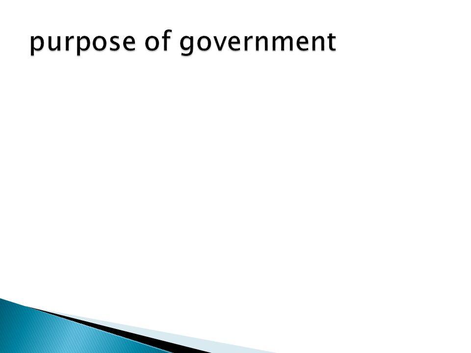 purpose of government