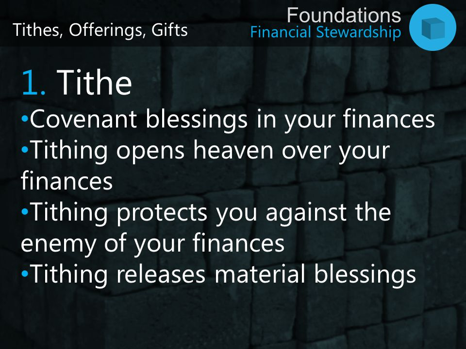 1. Tithe Covenant blessings in your finances