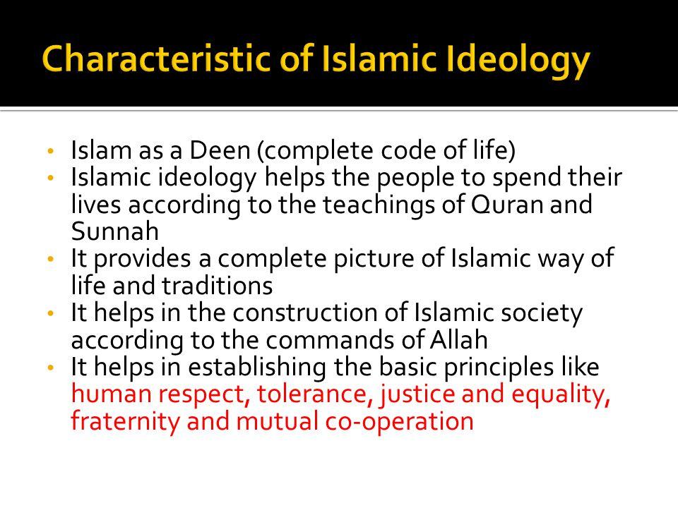 Characteristic of Islamic Ideology