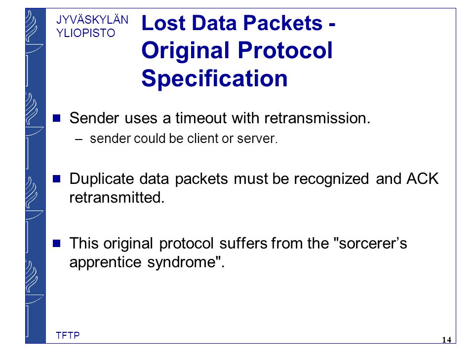 Lost Data Packets - Original Protocol Specification