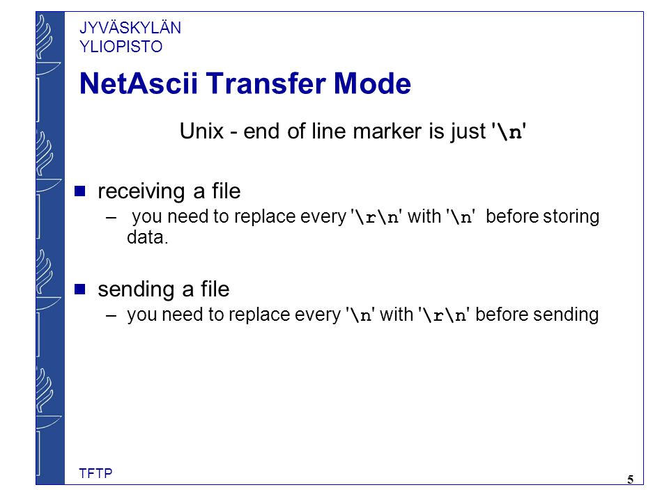 NetAscii Transfer Mode