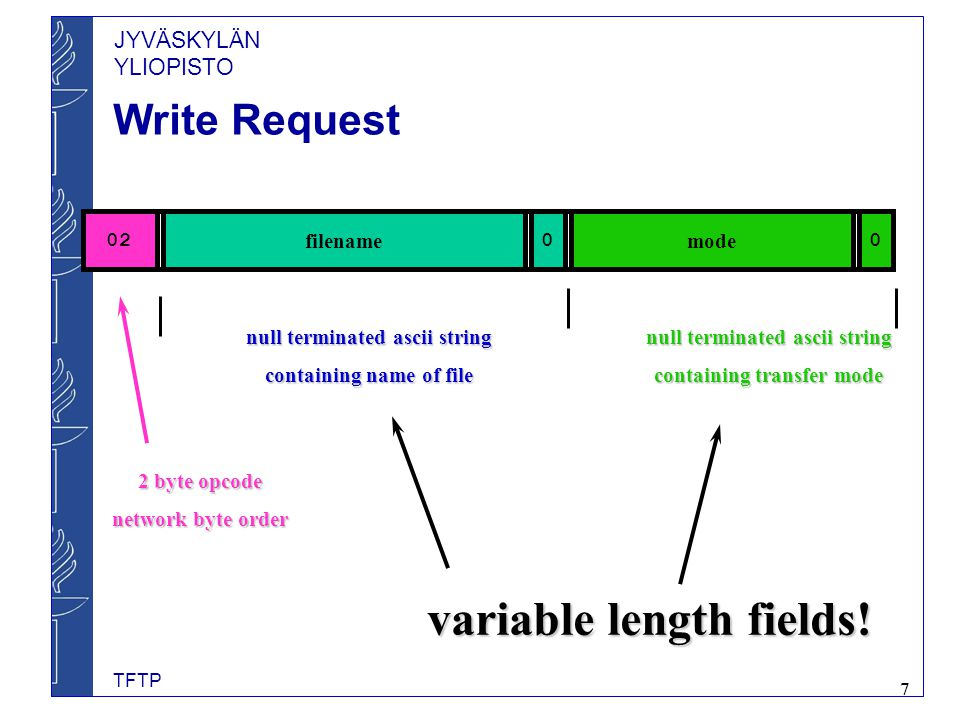 variable length fields!