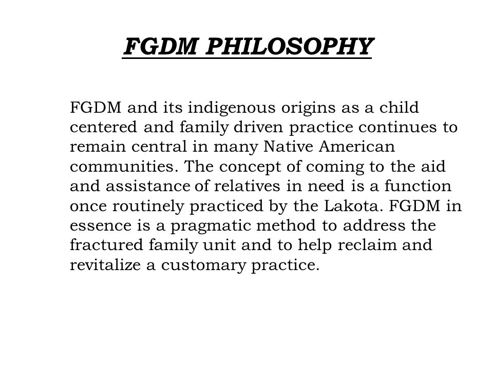 FGDM PHILOSOPHY
