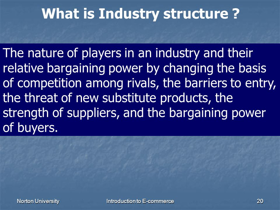 What is Industry structure