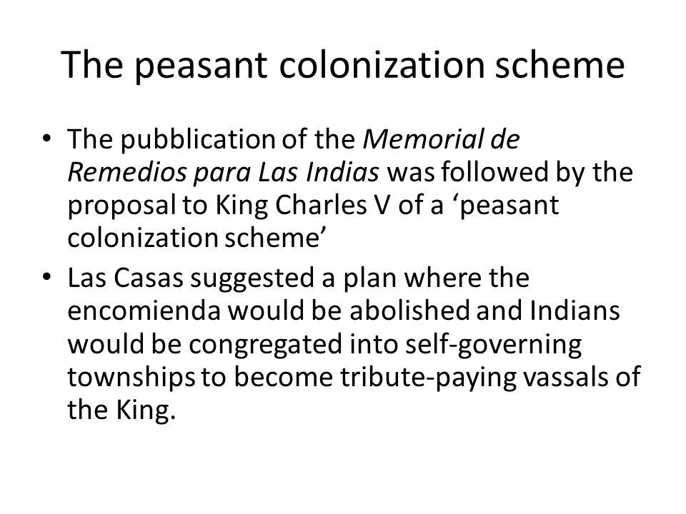 The peasant colonization scheme