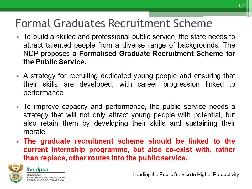 Formal Graduates Recruitment Scheme