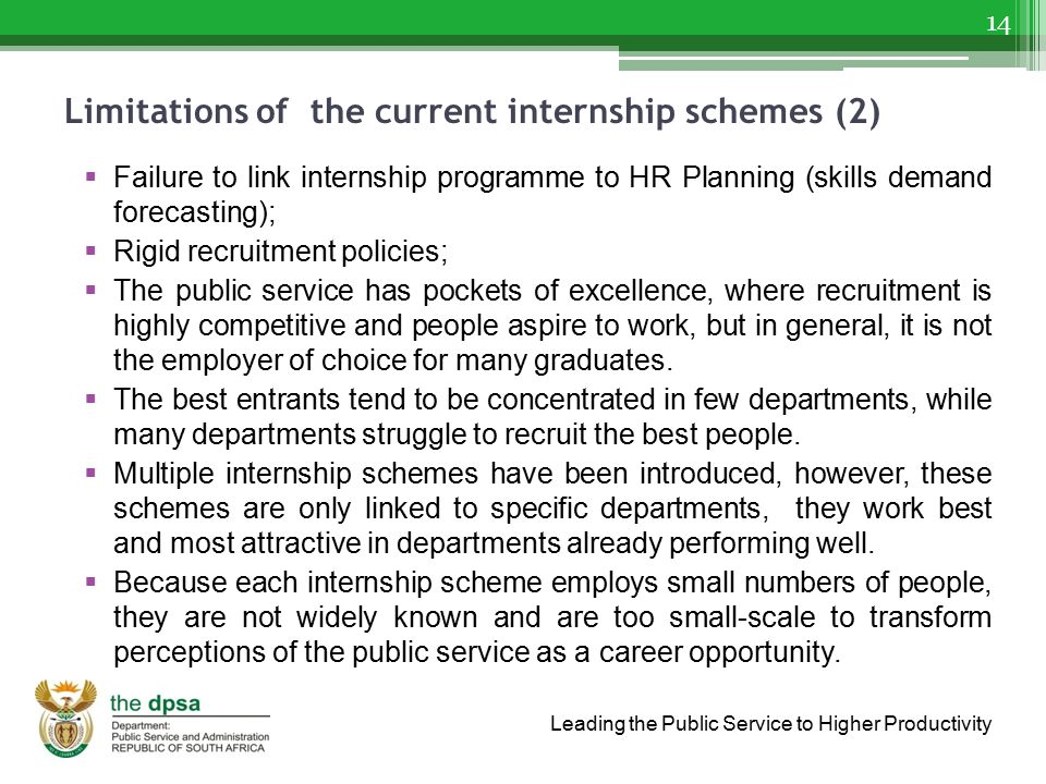 Limitations of the current internship schemes (2)
