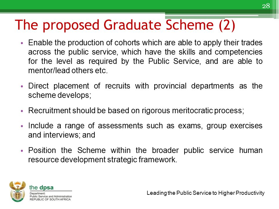 The proposed Graduate Scheme (2)