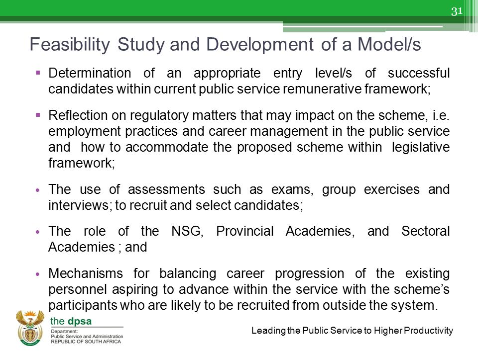 Feasibility Study and Development of a Model/s