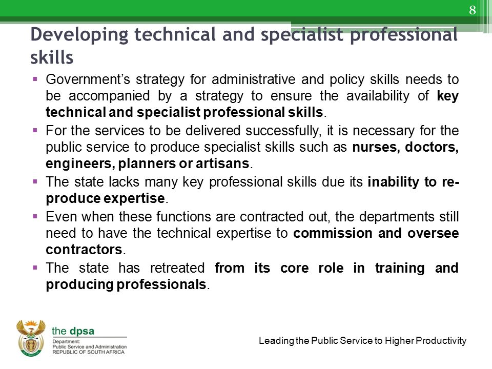 Developing technical and specialist professional skills